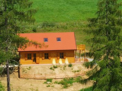 Photo for Comfortable, ecological wooden chalet in a breathtakingly beautiful area