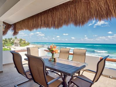 Photo for Caribbean Beachfront Villa on an EXCLUSIVE beach, pool, jacuzzi and full staff!