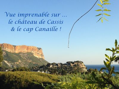 Photo for EXCEPTIONAL VIEW SEA AND CAP CANAILLE has 5 MN PORT BEACH AND COMMERCESType 3 4P