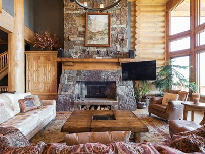 Photo for Luxury mountain home on private Deer Crest ski run -- theater, sauna, hot tub