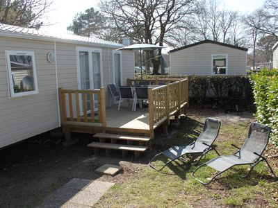 Photo for Mobilhome Pont Aven 4-6 places in camping 4 *