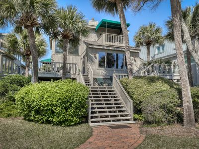 Photo for Multi-level ocean getaway on the beach w/ deck & shared pool!