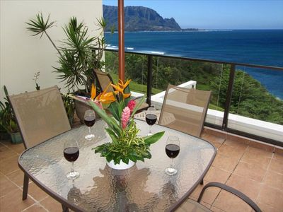 Large 18 x 22 foot private oceanfront lanai