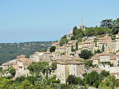 Photo for Village home on the old Bonnieux town wall with unprecedented views