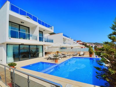 Photo for Contemporary Stylish 4 Bedroom Villa with Private Pool & Sea Views, near Centre