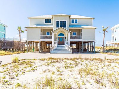 """Photo for """"Crews Quarters"""" Gulf Front Home on LARGE 100 ft wide lot w/ private heated pool"""