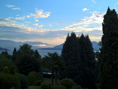 Photo for MAJOR LAKE VILLA WITH GARDEN & SWIMMING POOL. AMAZING VIEW ON THE LAKE AND ALPS
