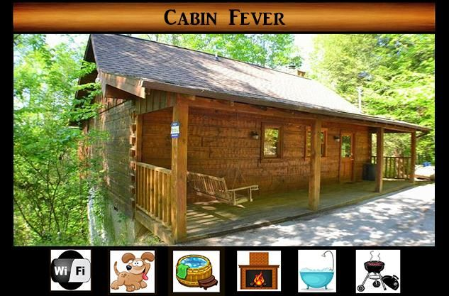 Cabin fever pet friendly minutes to pigeon forge hot - 1 bedroom cabins in pigeon forge under 100 ...