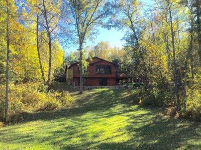Photo for Beautiful Cabin With 3 Acres On Crystal Clear Lake Ossawinnamakee