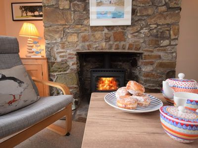 Cosy up by the wood burner effect fire