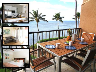 Photo for Oceanfront Beachfront Maalaea Banyans Stylishly Renovated Condo -3 beds, 2 baths