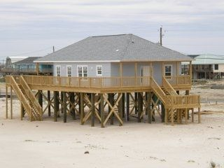 Picture of the house from the beach