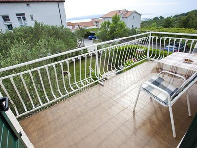 Photo for Two bedroom apartment with terrace and sea view Promajna (Makarska)