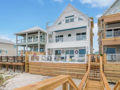Photo for Southern Comfort! Beachfront - Pool* - Grill - Beach Walkover - Big Deck - Games