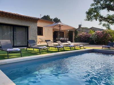 Photo for Fully renovated villa 800m from downtown St Rémy with heated pool