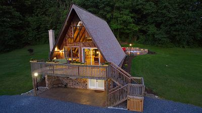 Photo for Romantic Getaway in nearly 10 Private Wooded Acres on Texter Mountain w/ hot tub
