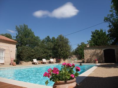 Photo for VILLA TO 10 PEOPLE WITH HEATED POOL IN PROVENCE