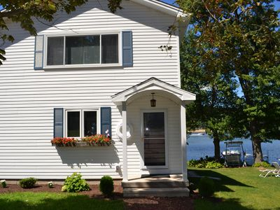 Photo for Direct Lakefront, 2 docks, private, easy access from I 91.