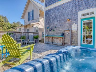 Photo for Luxurious Craftsman Cottage with Hot Tub Faces Olivia Beach's Park and Playground!