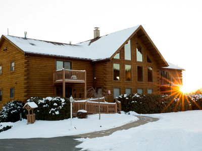 Photo for Spacious 8BD/7BA Log Home on Beltzville Lake in Southern Poconos - NO PROM