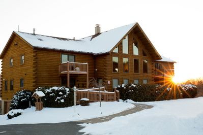 Winter view of the lodge