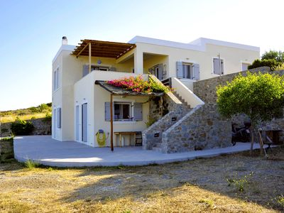 Photo for HOUSE FAMILY FRIENTLY 126m³ - panoramic sunset view in SYROS CYCLADES GREECE