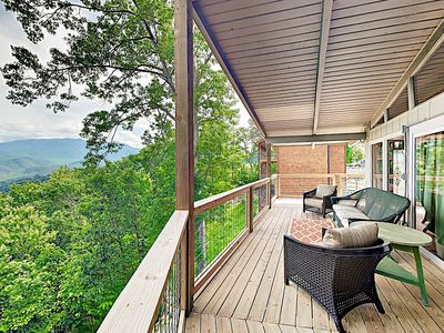 Photo for New Listing! Cabin Retreat: Wraparound Deck, Private Hot Tub, Near Downtown