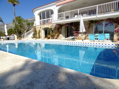 Photo for Large lovely villa close to the golf course with sea view, 7 till 8 persons.
