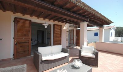 Photo for With roof terrace and sea view - Apartment Margidore