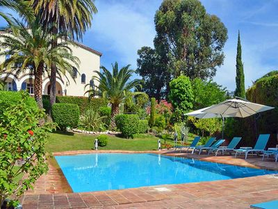 Photo for 8 bedroom Villa, sleeps 16 with Pool, Air Con and Walk to Beach & Shops