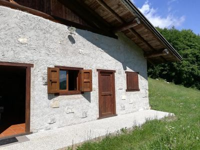 """Photo for Beautiful Holiday Home """"Baita Rustica immersa nel verde"""" with Mountain View; Pets Allowed, Parking Available"""