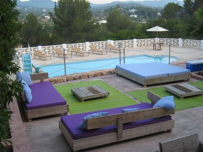 Photo for 5 bed luxury villa with pool, BBQ and stunning views of Ibiza countryside