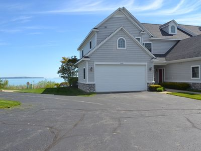Photo for 20591 The Lake Huron Mackinaw Bridge and Island View 3 Bedroom Waterfront Condo