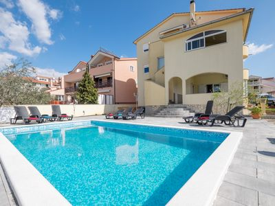 Photo for fantastic holiday, well-kept apartment, pool, eventful environment, speak D