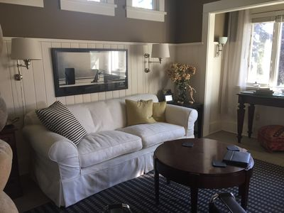 Comfy and stylish! Architectural details abound!