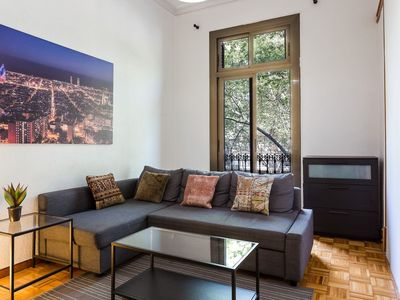 Photo for Large Central Barcelona Apartment on the Grand Via