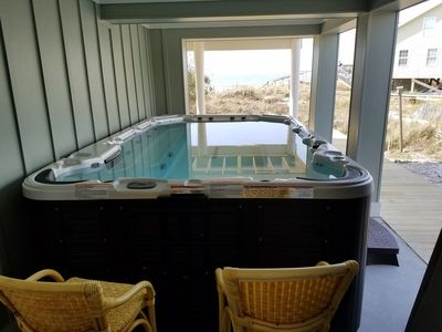 Photo for GULF FRONT- Swim Spa, Expansive Screen Porch, Beautiful Beach,
