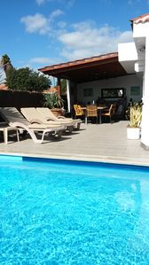 Photo for Private heated pool, all ensuite, free WiFi, close to beach. From £129/night.