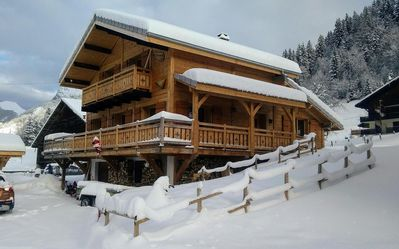 Photo for Chalet Le Korrigan, ideally located between La Chapelle d'Abondance and Chatel. Easy access to the domain