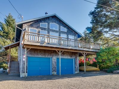 Photo for Cozy, family-friendly home w/ deck, ocean views & firepit - 4 blocks to beach!