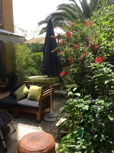Photo for Charming apartment in ground garden not overlooked. Quiet 15 minutes from the beach