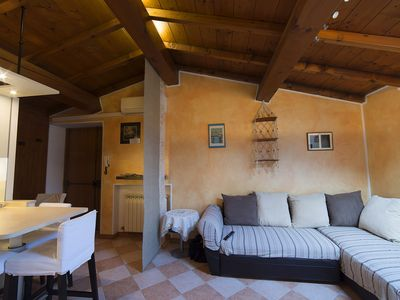Photo for Romantic restored holiday apartment in the center of Bardolino, garage, WiFi,