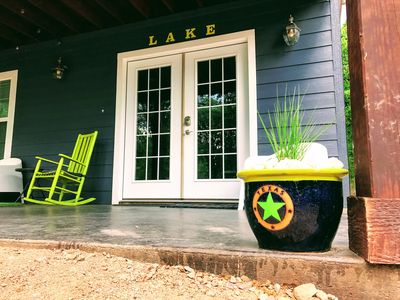 Front porch with a view!  relax and rock away your stress.