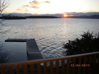 Sunset from the lower deck