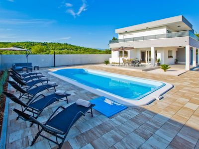 Photo for cthv283- Beautiful holiday home with pool on the island of Hvar, 7 persons