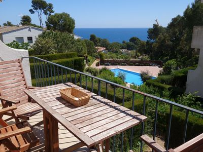 Photo for Studio with fantastic sea views and pool in Calella de Palafrugell