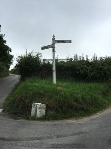 Fingerpost sign - 200 metres to The Studio