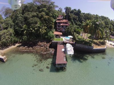 Photo for Wonderful house by the water in Angra dos Reis.