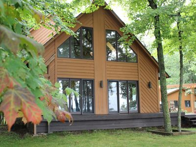 Photo for Farm Island Lake A-frame cabin with the comforts of home