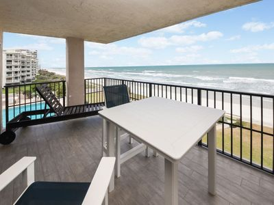 Photo for Southwinds #405 - Oceanfront, bright and cheery 3 bedroom 3 bath north-east corner condo.